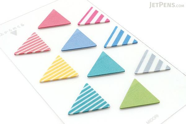 Midori Film Sticky Notes Mini - Triangles - MIDORI 11374-006