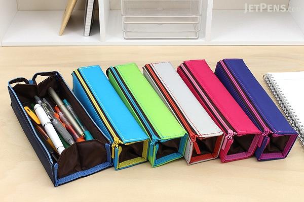 Kokuyo C2 Tray Type Pencil Case - Slim - Gray - KOKUYO F-VBF140-5
