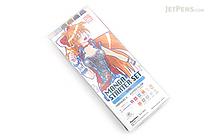 Kuretake Zig Cartoonist Manga Starter Set - Girl - KURETAKE CNSK-2