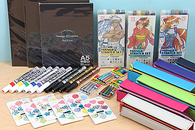 New Products: Pencil Cases, Pencil Caps, Manga Tools, Paint Markers and More!