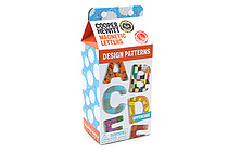 Galison Design Patterns Wooden Magnetic Letters - Uppercase - GALISON 978-0-7353-4065-7