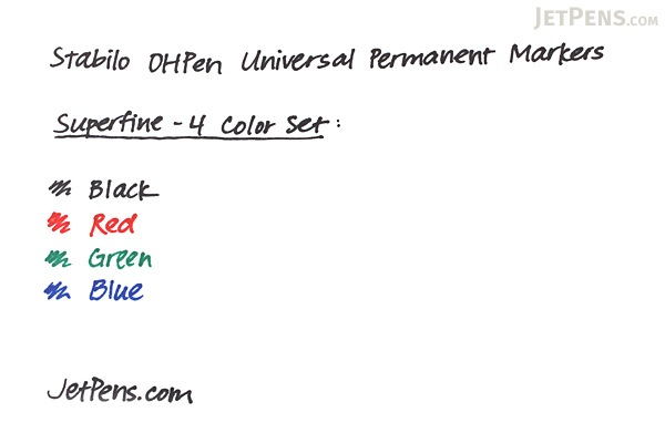 Stabilo OHPen Universal Permanent Marker - Superfine - Green - STABILO 841-36