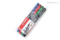 Stabilo OHPen Universal Permanent Marker - Superfine - 4 Color Set - STABILO 841-4