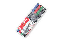 Stabilo OHPen Universal Permanent Marker - Superfine - 4 Color Set - STABILO 841-4