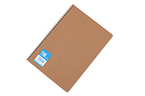 Apica Blank Cover Twin Ring Notebook - Semi B5 - Graph - APICA SW134S