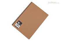 Apica Blank Cover Twin Ring Notebook - Semi B5 - Blank - APICA SW134W