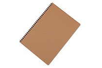 Apica Blank Cover Twin Ring Notebook - Semi B5 - Lined - Blue - APICA SW31B