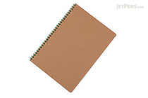 Apica Blank Cover Twin Ring Notebook - Semi B5 - Lined - Green - APICA SW31G