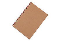 Apica Blank Cover Twin Ring Notebook - Semi B5 - Lined - Red - APICA SW31R
