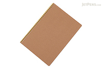 Apica Blank Cover Twin Ring Notebook - Semi B5 - Lined - Yellow - APICA SW31Y