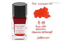 Pilot Iroshizuku Fuyu-gaki Ink (Persimmon) - 15 ml Bottle - PILOT INK-15-FG