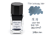 Pilot Iroshizuku Mini Ink - 15 ml - Shin-kai Deep Sea (Blue Gray) - PILOT INK-15-SNK