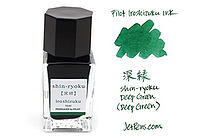 Pilot Iroshizuku Mini Ink - 15 ml - Shin-ryoku Deep Green (Deep Green) - PILOT INK-15-SHR