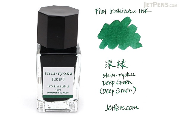 Pilot Iroshizuku Shin-ryoku Ink (Deep Green) - 15 ml Bottle - PILOT INK-15-SHR