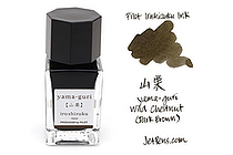 Pilot Iroshizuku Mini Ink - 15 ml - Yama-guri Wild Chestnut (Dark Brown) - PILOT INK-15-YG
