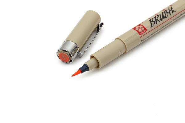 Sakura Pigma Brush Pen - Orange Ink - SAKURA XSDK-BR-05