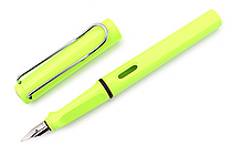 Lamy Safari Fountain Pen - Fine Nib - Neon Lime - LAMY L43F
