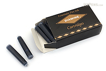 Diamine Fountain Pen Ink Cartridge - Midnight - Pack of 18 - DIAMINE INK 8063