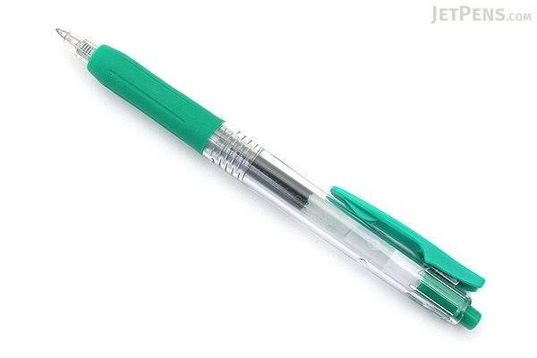 Zebra Sarasa Push Clip Gel Pen - 0.7 mm - Green - ZEBRA JJB15-G