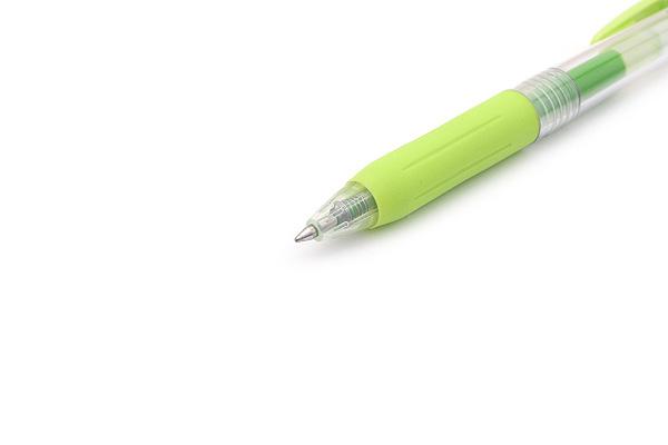 Zebra Sarasa Push Clip Gel Pen - 0.7 mm - Light Green - ZEBRA JJB15-LG