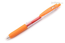 Zebra Sarasa Push Clip Gel Pen - 0.7 mm - Orange - ZEBRA JJB15-OR