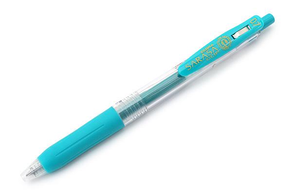 Zebra Sarasa Push Clip Gel Pen - 0.7 mm - Blue Green - ZEBRA JJB15-BG