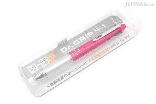 Pilot Dr. Grip 4+1 4 Color 0.7 mm Ballpoint Multi Pen + 0.5 mm Pencil - Pink Body - PILOT PBKHDF1SF-P