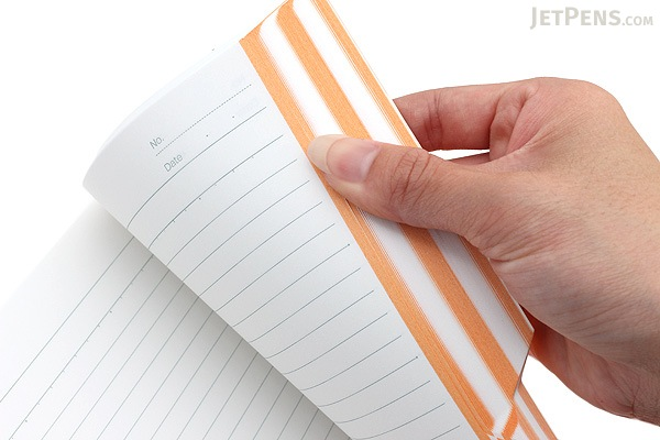 Kokuyo Campus Paracuruno Slanted Page Notebook - Semi B5 - Orange - KOKUYO NO-R8A-YR