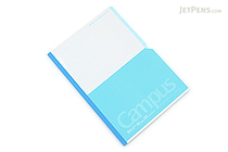 Kokuyo Campus Paracuruno Slanted Page Notebook - Semi B5 - Light Blue - KOKUYO NO-R8BN-LB