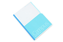 Kokuyo Campus Paracuruno Slanted Page Notebook - Semi B5 - Light Blue - KOKUYO NO-R8B-LB