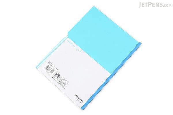 Kokuyo Campus Paracuruno Slanted Page Notebook - Semi B5 - Light Blue - KOKUYO NO-R8BN-LB