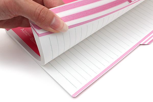 Kokuyo Campus Paracuruno Slanted Page Notebook - A5 - Pink - KOKUYO NO-R108A-P