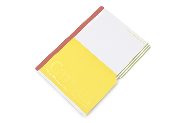 Kokuyo Campus Paracuruno Slanted Page Notebook - A5 - Lime Green - KOKUYO NO-R108B-YG