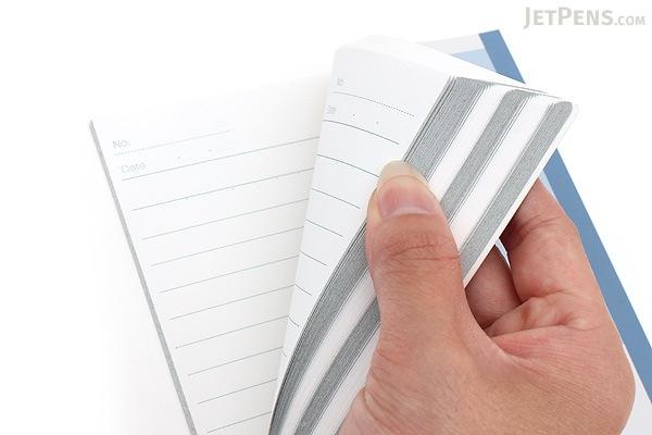 Kokuyo Campus Paracuruno Slanted Page Notebook - A5 - Gray - NO-R108UN-M