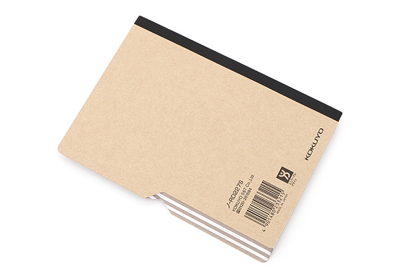 Kokuyo Design Paracuruno Slanted Page Notebook - A6 - 5 mm Graph - Khaki Brown - KOKUYO NO-RD227S