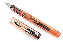 Jinhao 599A Transparent Fountain Pen - Orange - Medium Nib - JINHAO 599A-3