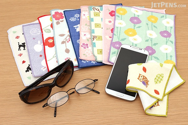 Kurochiku Taisetsu Microfiber Cleaning Cloth for Glasses - Megane Ichimatsu (Glasses Checkered) - KUROCHIKU 41009609