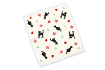 Kurochiku Taisetsu Microfiber Cleaning Cloth for Glasses - Heart Kuroneko (Heart Black Cat) - KUROCHIKU 41009605