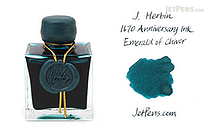 J. Herbin Emerald of Chivor Ink - 1670 Anniversary - 50 ml Bottle - J. HERBIN H150/35