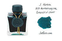 J. Herbin 1670 Anniversary Fountain Pen Ink - 50 ml Bottle - Emerald of Chivor - J. HERBIN H150/35