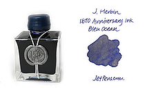 J. Herbin 1670 Anniversary Fountain Pen Ink - 50 ml Bottle - Bleu Ocean (Ocean Blue) - J. HERBIN H150/18