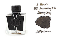 J. Herbin 1670 Anniversary Fountain Pen Ink - 50 ml Bottle - Stormy Grey - J. HERBIN H150/09