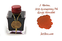 J. Herbin 1670 Anniversary Fountain Pen Ink - 50 ml Bottle - Rouge Hematite - J. HERBIN H150-26