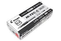 Pilot Hi-Tec-C Gel Pen with Grip - 0.3 mm - Red - 10 Pen Set - PILOT LHG-20C3-R BOX