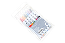 Kuretake Clean Color Real Brush Pen - 6 Color Set - KURETAKE RB-6000AT-6VA