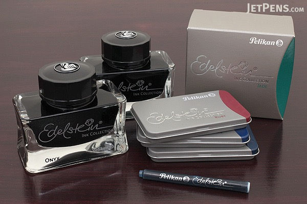 Pelikan Edelstein Fountain Pen Ink Collection Cartridge - Onyx (Black) - Pack of 6 - PELIKAN 339622