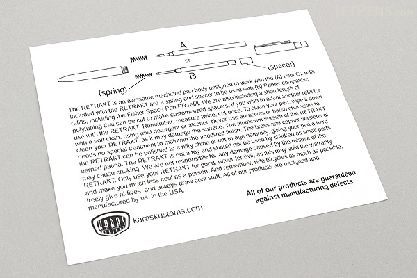 Karas Kustoms Retrakt Pen - Copper - 0.5 mm - Black Ink - KARAS KK-5041-COPPER