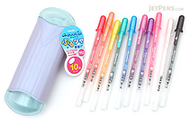 Sakura Aqualip Gel Pen - 0.8 mm - 10 Color Set - SAKURA PGB10G
