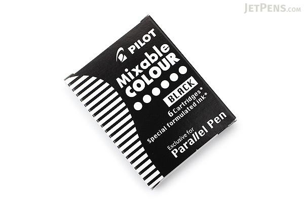 Pilot Parallel Pen Refill - Black - 6 Cartridges - PILOT ICP36BLK