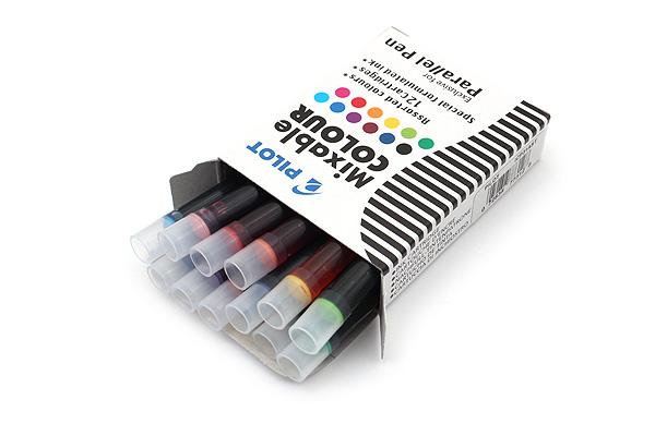 Pilot Parallel Calligraphy Pen Refill - 12 Color Pack - PILOT 77312
